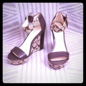 Coach high heel wedges